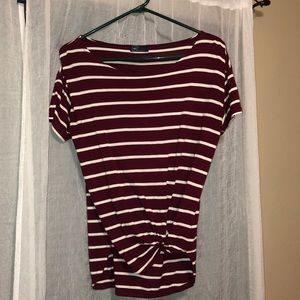 Maroon striped T-shirt from Gap